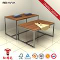 personalizados de alta calidad de la madera de los hombres zapato soporte de exhibición de color rojo ceiba