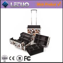 Giraffe wholesale aluminum professional soft side metal makeup case makeup compact case