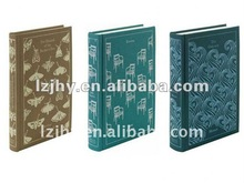 notebook in three color/grey, light blue, dark blue