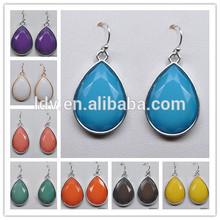 Multi Color Available Facted Bead Dangle Earring Tear Drop Gemstone Earring