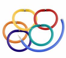 Chain shape color plastic ball pen for kids