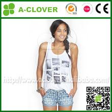 very hot sexi girl wholesale bulk plain white t shirts china gym tank top