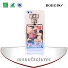 perfume bottle blue light IMD diamond pc hard back cover case for iPhone 5s