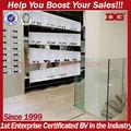 tienda de óptica de vitrina de madera de pantalla de vidrio para accesorio del almacén
