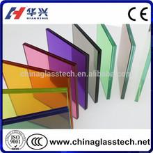 decorative colorful laminated sliding glass