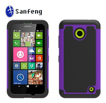 Dustproof Shockproof case back cover for Nokia Lumia 630 635 Cell phone case with purple & black