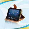 100% Hand made natural rotative leather case for ipad mini