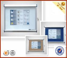 Lockable magnetic aluminum frame poster display case