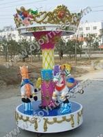 Theme park rides 3 Seats Carousel Nice Kiddie Rides for Sale