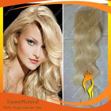 Alibaba Wholesale Factory Price Lace Closure 4x4 Virgin Hair Blond 613 Closure