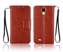 Genuine leather case stand wallet pouch for Samsung Galaxy S4 i9500