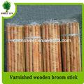envernizado de madeira cabo de vassoura com rosca italiana