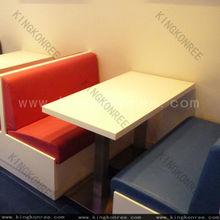 Moda real mesa de mármol, lujo mesa de comedor y sillas y aparadores / mesa de café