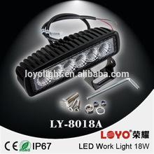 18w led alloy work light bar flood spot High Power 3W Epistar LED Work Light Lamp Off Road Bike Motorcycle 10 Degree Spot