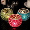 Red Blue Green Wedding mosaic candle holder new design