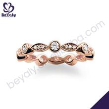 Customized design rose gold plating diamond ring insurance