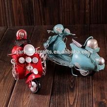 Handmade iron mini motorcycle model for cafe bar decoration