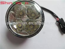 Auto Car 4 LED Round DRL Daytime Running Day Driving Bulb Fog Light Lamp 12V 5W