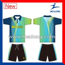 2014 hot sale sublimated new design badminton uniform