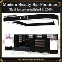High quality fashion wooden mall kiosk nail polish trade show displays