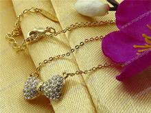 Popular butterfly patterns color acrylic pave necklace