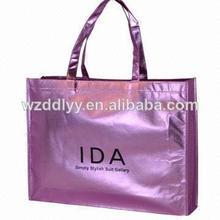 Golden laminated non-woven bag