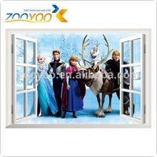 window wall decal frozen froze 3d sticker frozen decal zooyoo art removable pvc window wall stickers kisd room home decoration