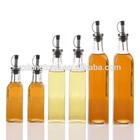 cooking oil glass bottle, square glass oil bottle, vinegar dispenser