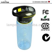 Good quality 750ml UV sterilization LED light outdoor personalized gatorade water bottle