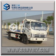 7ton foton-forland tow truck flat road removal truck wrecker