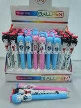lovely fashion design doll erasable pen wholesale