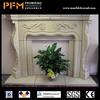 Wholesale white stone beautiful fireplace frame simple design