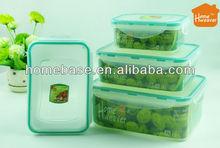 Hight quality Food Grade Grain Plastic Cake Box / Vacuum Airtight Lock Plastic Cake Box Manufacture