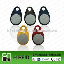China supplier access control RFID keychain tag/key tags/llaveros TK4100 chip logo printable