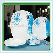 16pc square shaped dinnerware set,colourful dinnerware set,dinnerware set dark blue,