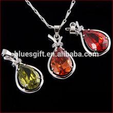 2014 High quality fashion Copper Cubic Zirconia purse pendant necklace