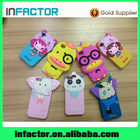 OEM/ODM Beautiful carton cover case PU+Silicone material for iPhone 5 5c 5s