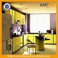 modern tasarım lake sarı mutfak dolabı