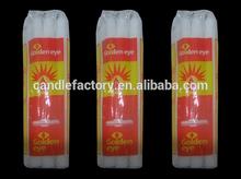 South Africa market 68g White Flute/Ridge Candle/ Velas Brancas/ Bougies