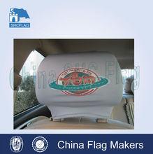 Custom made car flag mirror sock,car dvd player headrest cover,headrest covers for cars