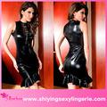 Hot vente Sexy Black Mermaid Faux Lingerie en cuir