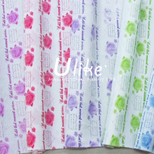Rose Printing Gift/Flower Wrapping DIY Packing Crepe Paper