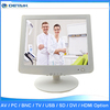 15 inch White Color TFT LCD Security Monitor / CCTV BNC Monitor /Medical Monitor