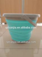 Plastic Foldable Bucket High Quality Oval Folding Pail/Bucket/Barrel Blue Bucket
