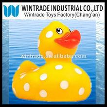 Yellow bath float duck w. dot