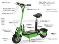 Ningbo scooter elettrico/accessori scooter elettrico/2 ruota in piedi equilibrio di auto elettriche scooter