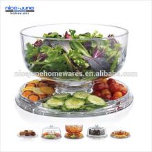 Multifunction Clear best sale plastic Punch Salad Bowl set