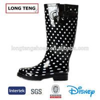 polka dot printing transparent rubber boots