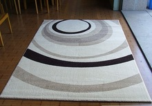 Fashion feather pattern acrylic carpets and rugs/non shed pile rug