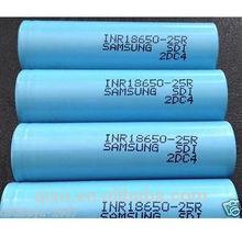 Samsung INR18650-25R 18650 2500mah 3.7V High drain 30A Samsung 18650 Li-ion Rechargeable Battery 2500mah